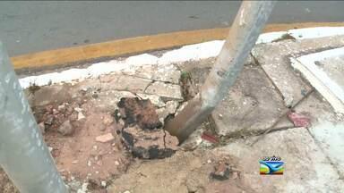 Colisões de veículos contra postes de energia preocupam autoridades - Veja a reportagem do Bom Dia Mirante.