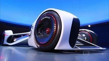 Chevrolet cria protótipo para o Gran Turismo 6 - Chaparral é um dos destaques no jogo de corrida. Feito para o game, o carro tem propulsão a laser e leva motorista de barriga para baixo.
