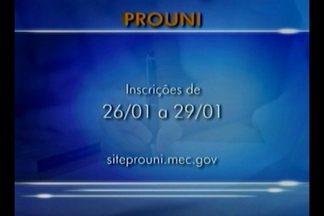 Estão abertas as inscrições para o PROUNI - As inscrições podem ser feitas até quinta-feira(29) no site do PROUNI.