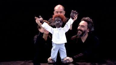 Mais Você apresenta show de marionetes - O boneco Pedrinho dançou para André e Cissa