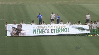 Monte Azul perde para o Guarani por 1 a 0 - Jogadores entraram em campo vestindo camisa igual a que era usada pelo ex-goleiro Neneca, campeão brasileiro em 1978, que morreu na semana passada.