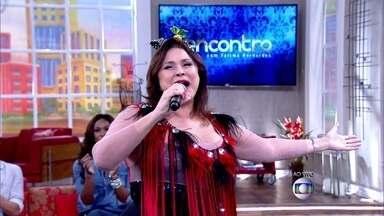 Fafá de Belém abre o Encontro com 'Vermelho' - Cantora agita plateia com seu sucesso