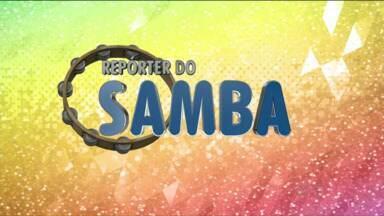 Veja como é a rotina pesada na produção das fantasias - Carla Marinho, intérprete da Escola de Samba Embaixadores da Alegria, mostra como os integrantes fazem para honrar o nome.