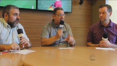 Comentaristas da Rádio Gaúcha projetam a quarta rodada do Gauchão - José Alberto Andrade, Marco Antônio Pereira e Cléber Grabauska participam do quadro.