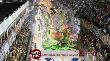 Enquete EMME: Alegorias da MUG! - A campeã do carnaval capixaba, a MUG, ostentou carros alegóricos gigantescos.