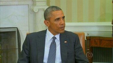 Obama diz que internet pode ser usada para impedir recrutamento pelo Estado Islâmico - Uma ofensiva na internet e nas redes sociais parece ser, ao presidente americano Barack Obama, uma das armas mais eficazes para impedir o recrutamento de jovens pelos terroristas do grupo Estado Islâmico.