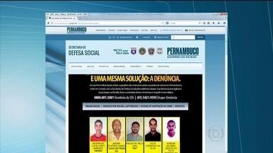 Polícia oferece recompensa para achar criminosos mais procurados do estado - Veja quem são os acusados de crimes.