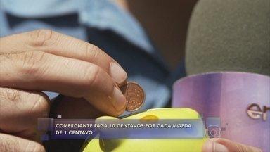 André Curvello vai às ruas procurar moedas de 1 centavo - Nas ruas fica difícil encontrar pessoas que tenham as moedas