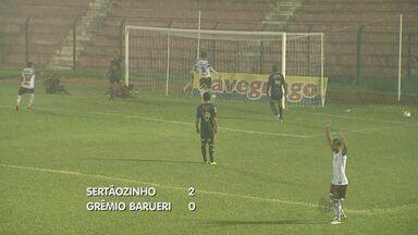 Sertãozinho venceu Grêmio Barueri por 2 a 0 - Partida foi válida pela série A3 do Campeonato Paulista
