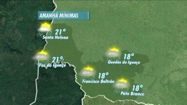 Domingo de chuva na fronteira - Temperaturas não diminuem