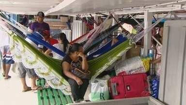 Autoridades alertam para segurança de gabagem em viagem de barco, no AM - Pais devem ficar atentos ao embarcar na Manaus Moderna.