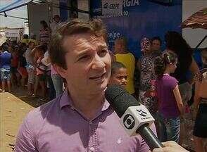Bairro José Carlos de Oliveira foi a primeira parada do 'AB Cidadania' da TV Asa Branca - Serviços de graça foram oferecidos para os moradores.