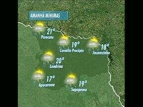 Próximos dias devem ser de chuva no norte do Estado - Também vai houver aumento na temperatura.