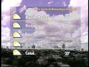 Dia deve seguir com sol entre nuvens no Oeste Paulista - Confira qual é a previsão do tempo para toda a região.