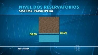 Nível dos reservatórios sobe na Grande BH - O índice melhorou, mas ainda é considerado preocupante pela Copasa.