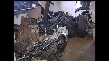 Polícia investiga quadrilha de desmanche de carros em Rio Preto - A polícia tenta chegar à ponta de uma quadrilha responsável por um desmanche ilegal de veículos em Rio Preto. Faltam os responsáveis pelos furtos e roubos dos carros e caminhonetes desmontados.