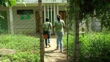 Situação precária de posto de saúde preocupa moradores de Valença, RJ - Quem vive no bairro Varginha está insatisfeito com a unidade que funciona em uma casa.