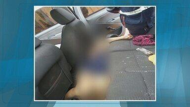 Família de mulher encontrada morta dentro de carro acredita em latrocínio - Foi velado hoje o corpo da mulher encontrada morta dentro de um carro ontem à tarde. Para a família ela foi vítima de latrocínio.