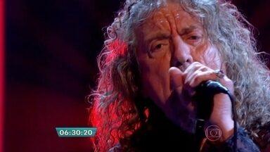 Robert Plant apresenta show da turnê do último disco solo do cantor - A banda é uma das atrações do festival que acontece no Autódromo de Interlagos, em São Paulo, nos dias 28 e 29 de março.