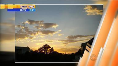 Confira fotos do amanhecer em Porto Alegre enviadas por telespectadores - Assista ao vídeo.