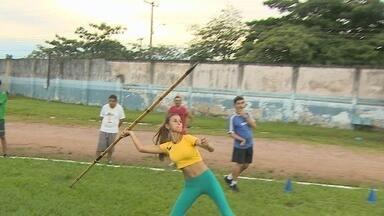 Atletas paralímpicos se preparam para jogos escolares, em Porto Velho - Competições começam em agosto mas equipe já está treinando.
