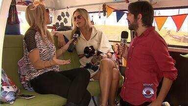 Potter e Rodaika entrevistam ao vivo Luana Piovani - Assista ao vídeo.