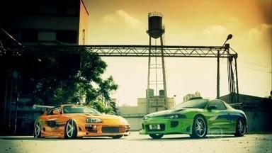 Fãs fazem réplicas de Supra e Eclipse de 'Velozes e furiosos' - Construídos a partir de fotos, esportivos japoneses são bem parecidos com os modelos guiados por Paul Walker e Vin Diesel.