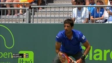 Bellucci perde para Dolgopolov e dá adeus ao Masters 1000 de Miami - Djokovic vence por 2 a 0 e avança.