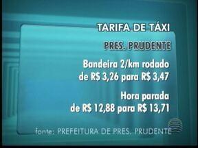 Tarifas cobradas para serviços de táxi terão reajuste - Novos valores devem ser praticados depois de 20 dias.