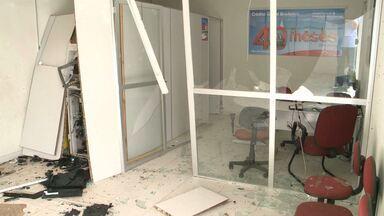 Explosão na cidade de Borborema-PB - Bandidos fortemente armados explodiram banco.