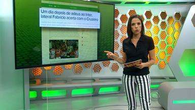 Fabrício acerta com o Cruzeiro - O lateral-esquerdo chega hoje em Belo Horizonte.