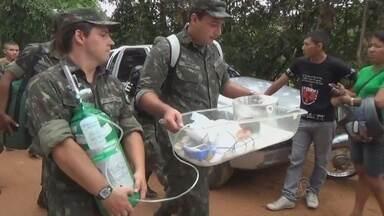 Após estrada romper, moradores enfrentam dificuldade para sair de município no AM - Moradores de São Gabriel da Cachoeira enfrentam dificuldades; cidade ficou isolada por terra.