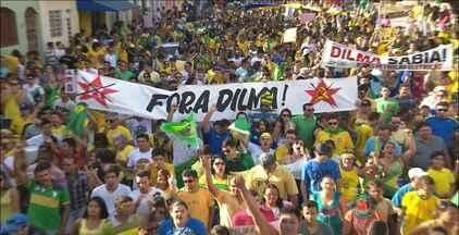 Veja como foram os protestos contra o governo em João Pessoa e Campina Grande - Entre as reivindicações estava o impeachment de Dilma Rousseff e o fim da corrupção.