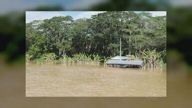 Cheia afeta mais de 14 mil famílias em Lábrea, no AM - Com alagação, geradores de energia foram desligados.