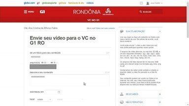 Aprenda a usar a ferramenta 'Você no G1' - Ana Fabre, ensina a enviar fotos, vídeos e notícias para o portal G1 Rondônia.