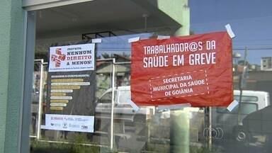 Após anúncio de greve, poucos pacientes procuram unidades de saúde em Goiânia - Profissionais da saúde estão em greve desde a última semana.