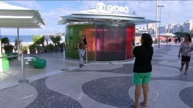 Quiosque da Globo em Copacabana, no Rio, comemora três anos - O Quiosque da Globo em Copacabana, na Zona Sul do Rio, comemora três anos no domingo (26). Quem passar por lá poderá participar de muitas atividades durante todo o dia. O evento é gratuito.