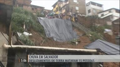 Prefeitura decreta emergência por causa da chuva que afetou Salvador - Por causa dos deslizamentos de terra, 15 pessoas morreram.