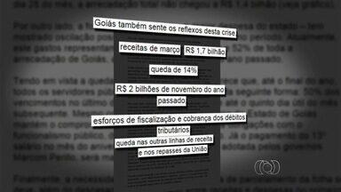 Governo vai parcelar em duas vezes os salários dos servidores de Goiás - Motivo da medida seria a queda da arrecadação.