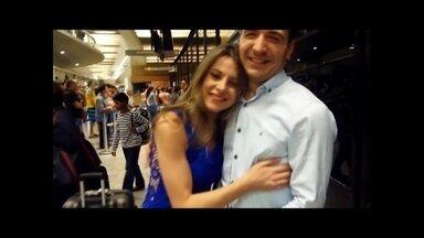Jéssica conheceu namorado turco pela internet e acaba sendo pedida em casamento no palco - Namorado mandou mensagem especial e gravou declaração em português
