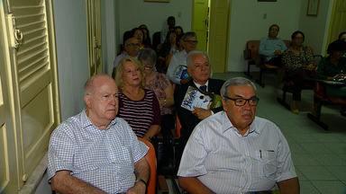 Membros da Academia Sergipana Letras recebem organizadores da Flise - Membros da Academia Sergipana Letras recebem organizadores da Flise.