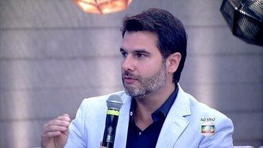 Segundo Fernando Gomes Pinto, paixão dura em média de seis meses a um ano - Apaixonado, Marcos Veras conta que está apaixonado pela mulher há mais tempo