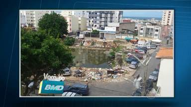 Telespectador envia imagens de possíveis focos de dengue em Salvador - Veja no quadro Você no BMD.