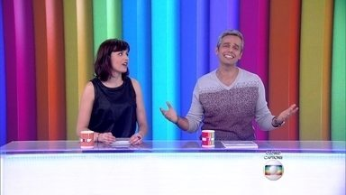 Otaviano Costa e Monica Iozzi começam o programa com cantoria - Confira clássicos do Falha Nossa e bastidores de 'I Love' no Vídeo Show
