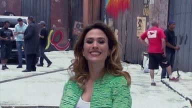 Vídeo Show mostra como produção de 'I Love' fez nevar em SP - Tatá Werneck conta os truques para criar Nova York no Brasil