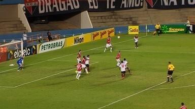 O gol de Atlético-GO 1 x 0 América-RN pela Copa do Brasil - Time goiano vence com gol de Juninho, mas está eliminado na competição nacional.
