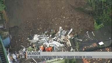 Mais de 20 pessoas morrem em deslizamentos e desabamentos devido a chuvas em Salvador - Há 20 anos não chove tanto na cidade no mês de maio. Nesta quarta-feira (20), a vítima foi uma mulher.