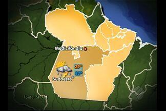Confira a previsão do tempo para Belém e interior nesta quinta-feira (21) - Na região metropolitana de Belém o tempo fica mais aberto durante a manhã e em parte da tarde. A mínima é de 23 graus e a máxima de 33 graus.