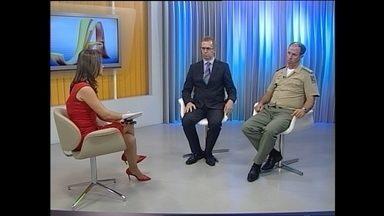 Terceiro bloco do JA especial sobre violência em Santa Maria - Entrevista ao vivo no estúdio com o delegado Sandro Meinerz e o coronel Worney Mendonça.