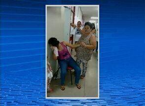 Vídeo mostra mulher enfrentando dificuldade de atendimento em policlínica de Caruaru - Imagens foram feitas pela acompanhante da paciente.